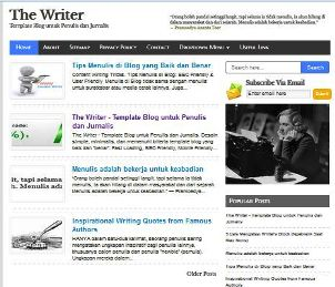 The Writer - SEO Fast Responsive Blogger Template