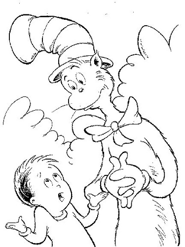 7 Picture of dr. Seuss Hat Coloring Pages