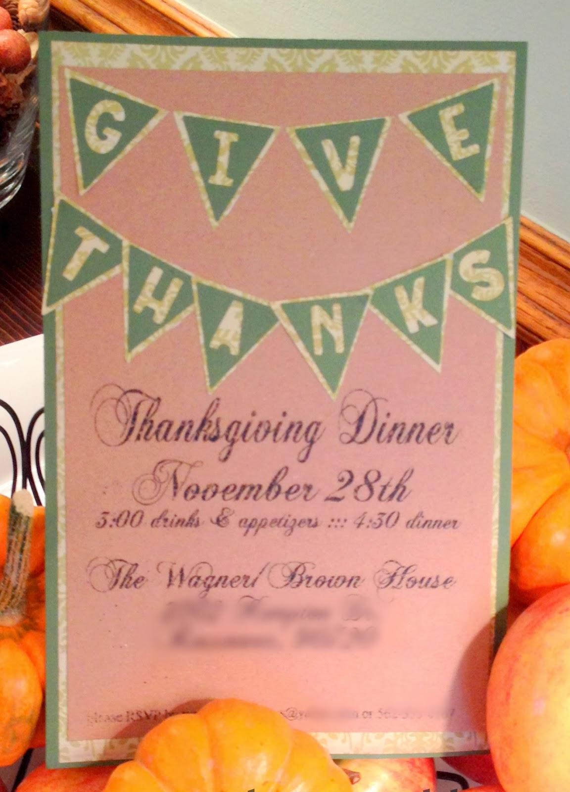 Easy Diy Thanksgiving Dinner Invitations The V Spot