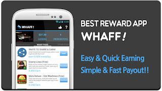 Whaff Rewards adalah Aplikasi Android Penghasil Uang