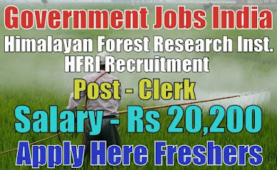 HFRI Recruitment 2019