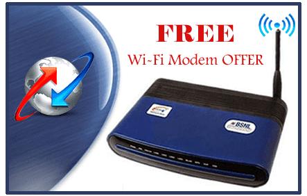 BSNL Broadband Free WiFi Modem Offer