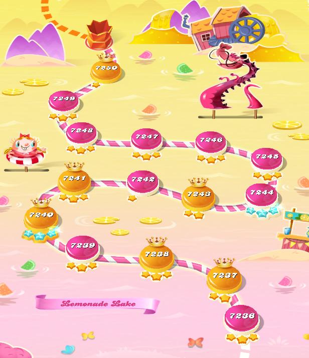 Candy Crush Saga level 7236-7250