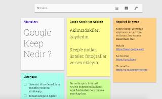 Google keep nedir