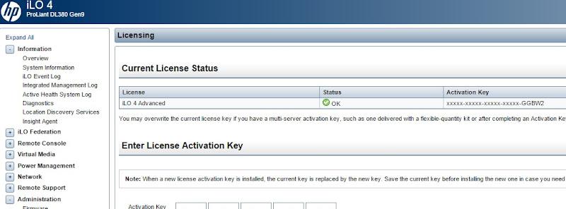 ilo 4 advanced license key