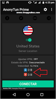 Anonytun Prime Connected to server
