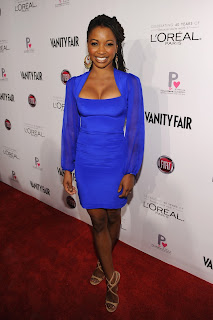 Shanola Hampton Shows Off Her Curves In A Tight Blue Dress ...