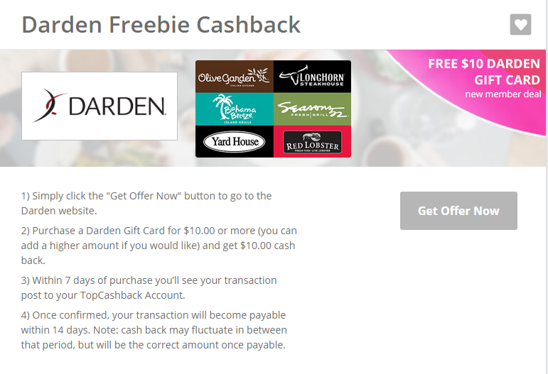 Savvy spending hot free 10 darden gift card for new - Where can i use olive garden gift card ...