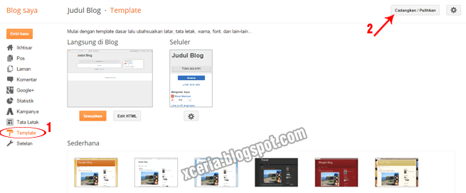 Cara Mengganti Template Blog - View