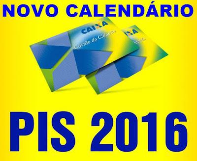 Novo Calendário do PIS 2016-2017