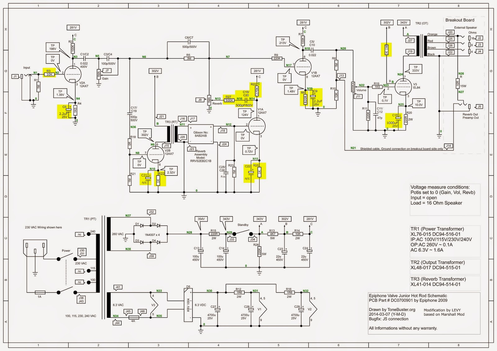 gas valve wiring schematic levy sound design: epiphone valve jr hot-rod modification