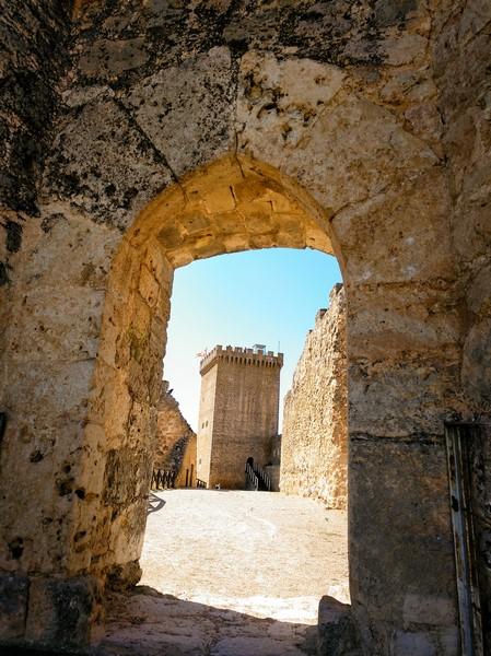 Puerta de acceso al Castillo de Peñaranda de Duero