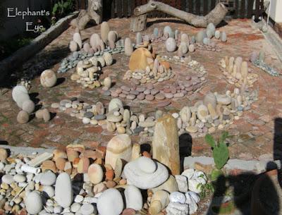 Pebble garden art in Fish Hoek