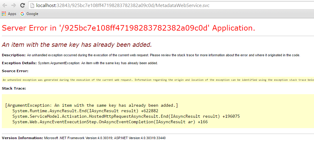 Fixing SharePoint: SharePoint Web Services Error : An item with the ...