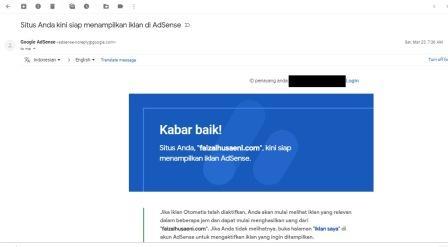 google adsense - faizalhusaeni.com Pengalaman diterima google adsense blog faizal husaeni