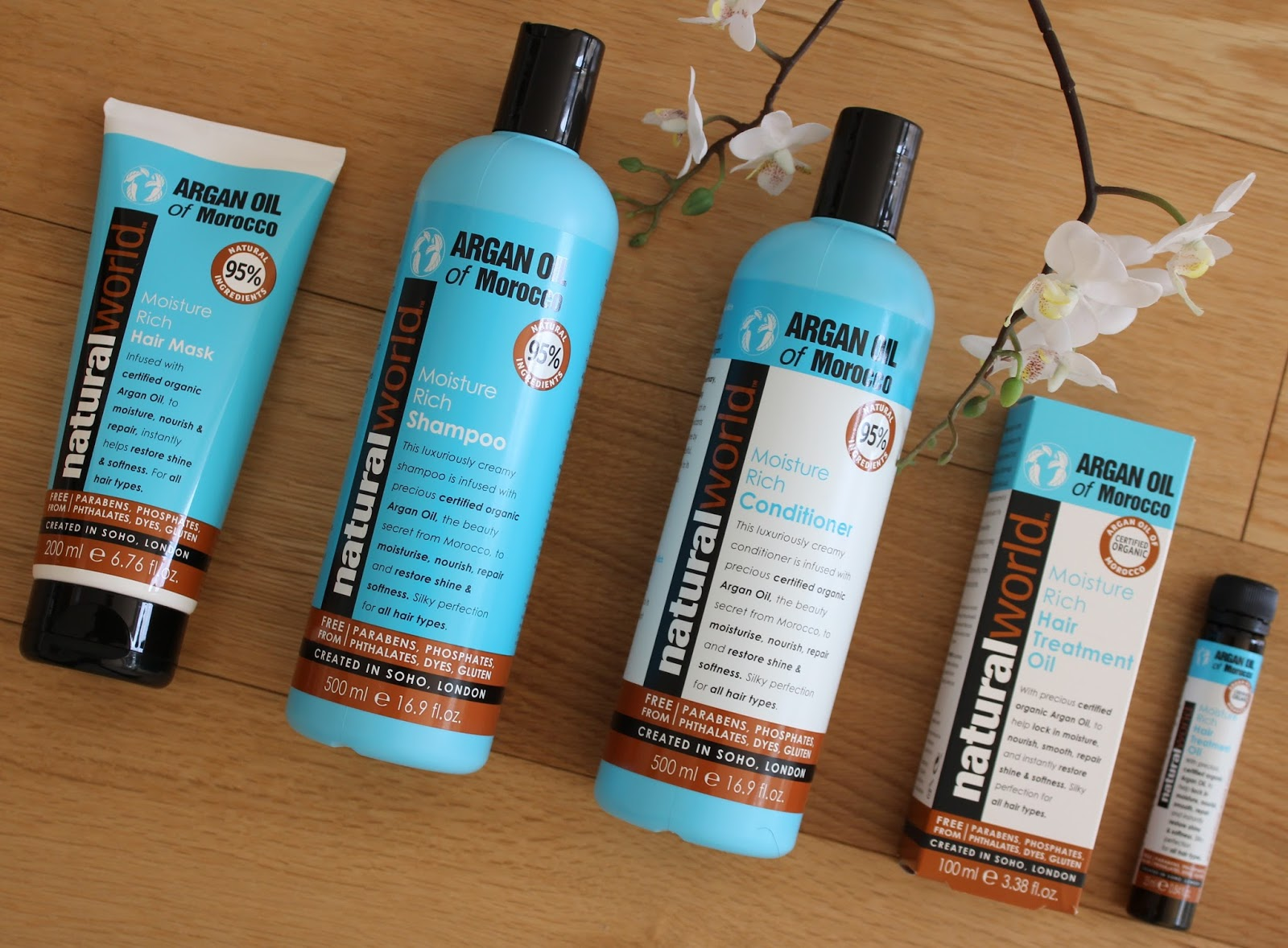 Natural World Argan Oil Haircare Range - 1