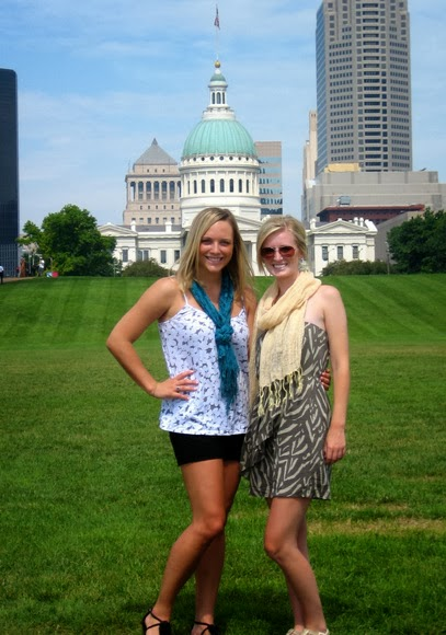 Casey and Bridget in St. Louis