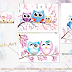 Watercolor Cute Owl Collection