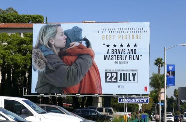 22 July movie consideration billboard