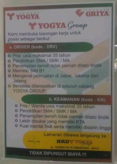 Lowongan Kerja Yogya Group