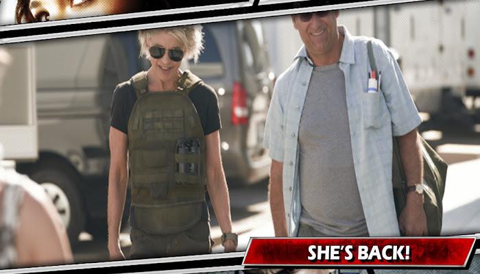 O EXTERMINADOR DO FUTURO | Linda Hamilton aparece no set do novo filme