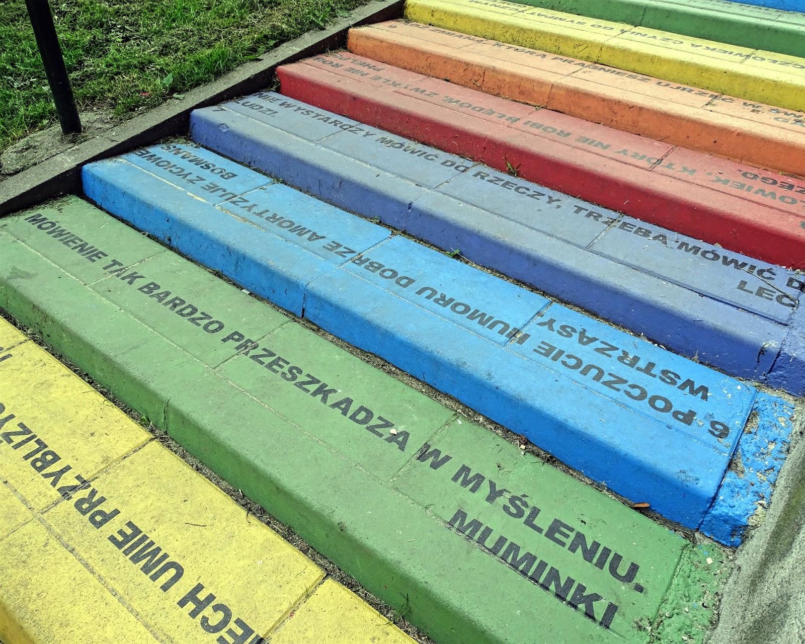 kolorowe schody Kraków