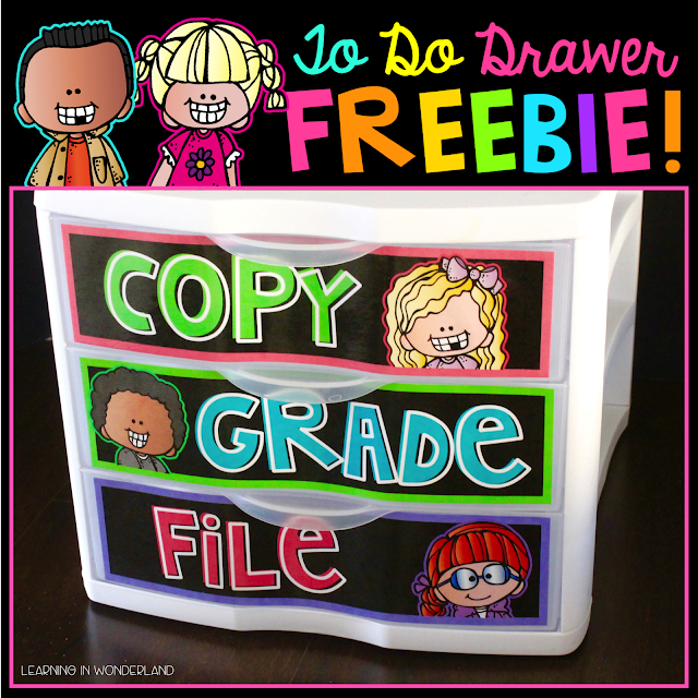 Free organization labels perfect for the primary classroom!