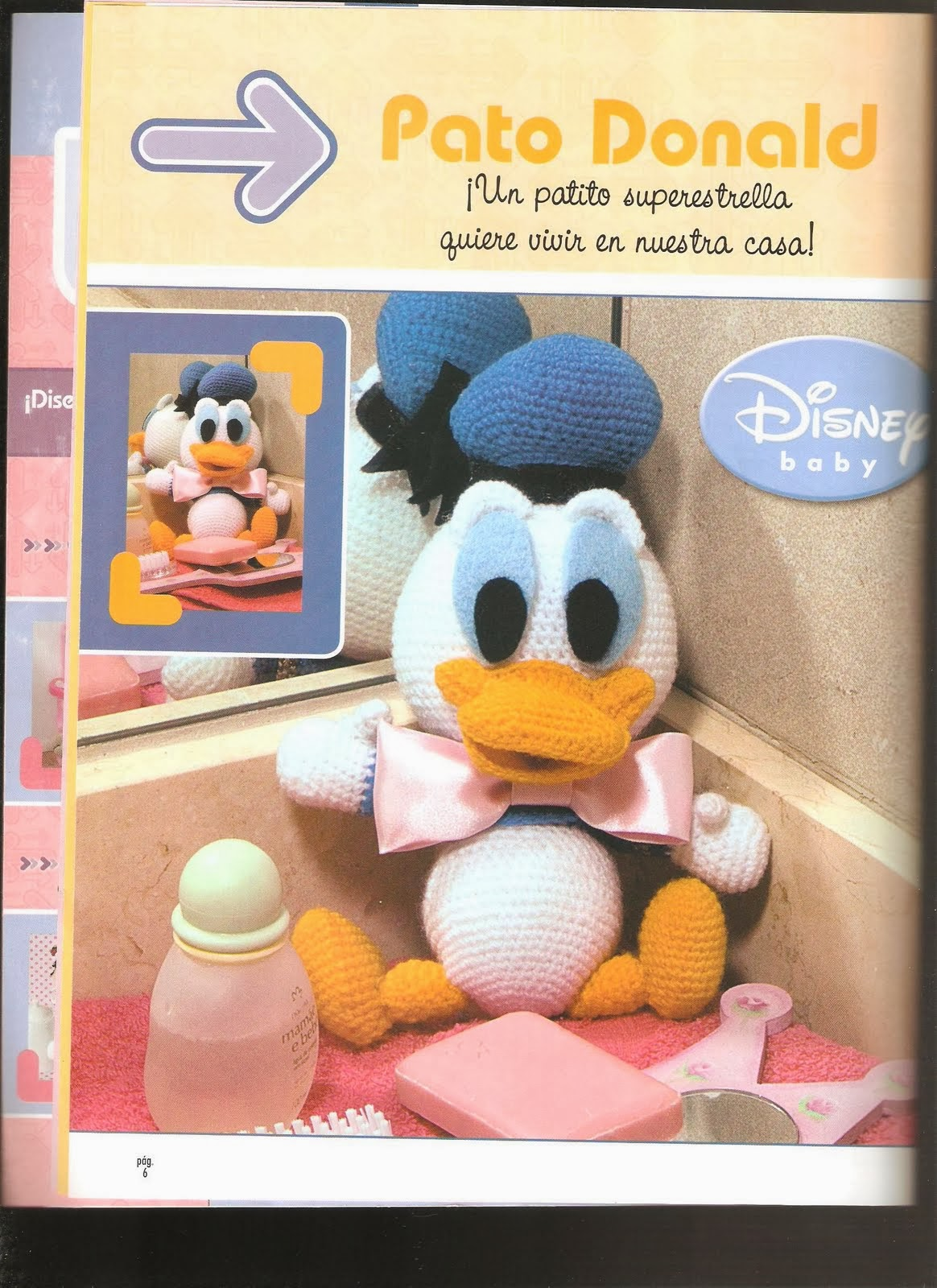Como hacer Pato Donald en crochet - Revistas de manualidades Gratis