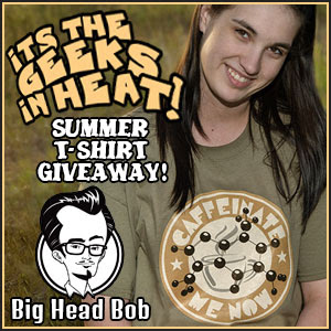 Enter for a chance to win one of two $50 eGift codes for Big Head Bob, ends 7/12