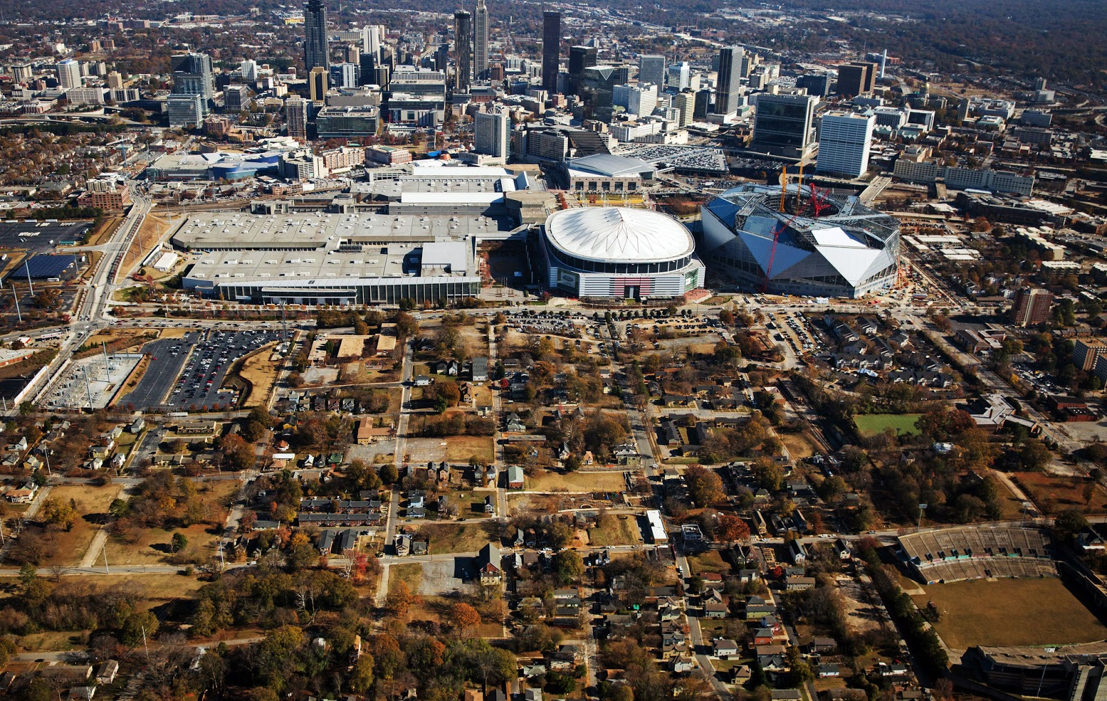Rebuilding place in the urban space over focusing on for Mercedes benz stadium application