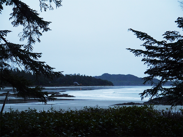 View from one of the rooms at Wickaninnish Inn on the Beach in Tofino, BC