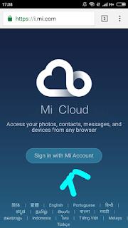 Gambar 1. Masuk ke Mi Cloud