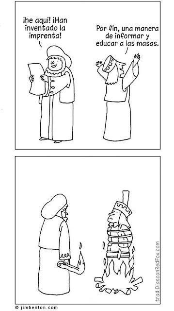 Meme de humor sobre la imprenta