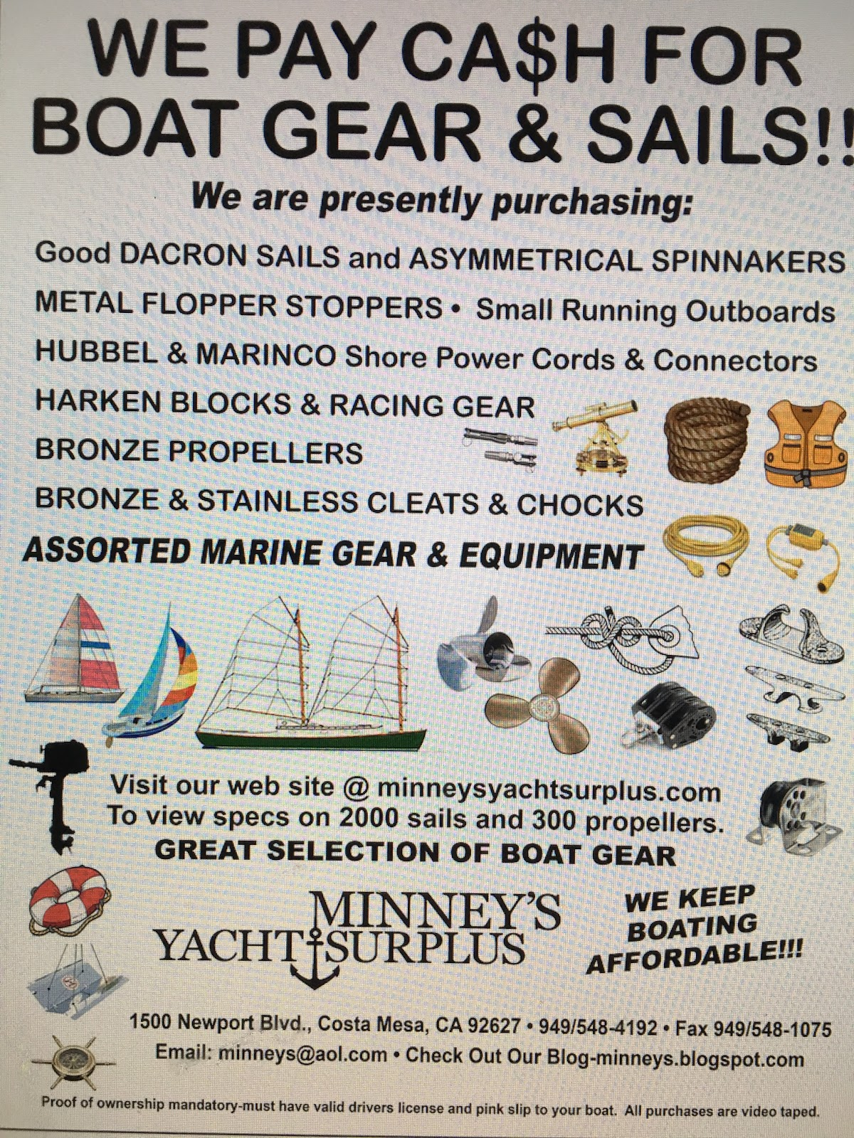 The Official Minneys Yacht Surplus Blog