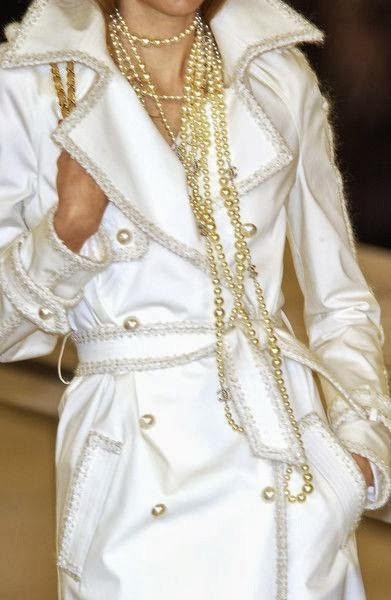 Chanel, pearl, white