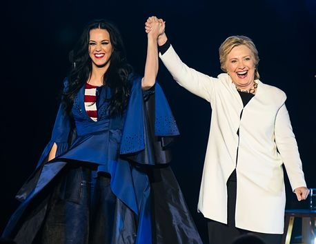 """, Katy Perry dons patriotic Stars and Stripes dress as she urges voters to """"rock for Hillary Clinton"""", Latest Nigeria News, Daily Devotionals & Celebrity Gossips - Chidispalace"""
