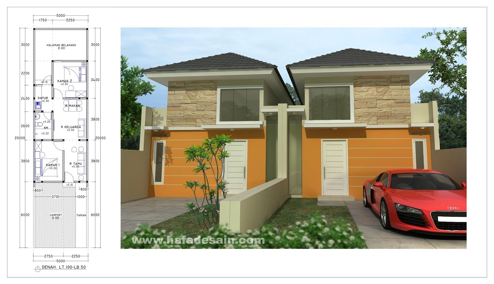 Desain Rumah Minimalis Lebar 5 Meter Kumpulan Desain Rumah