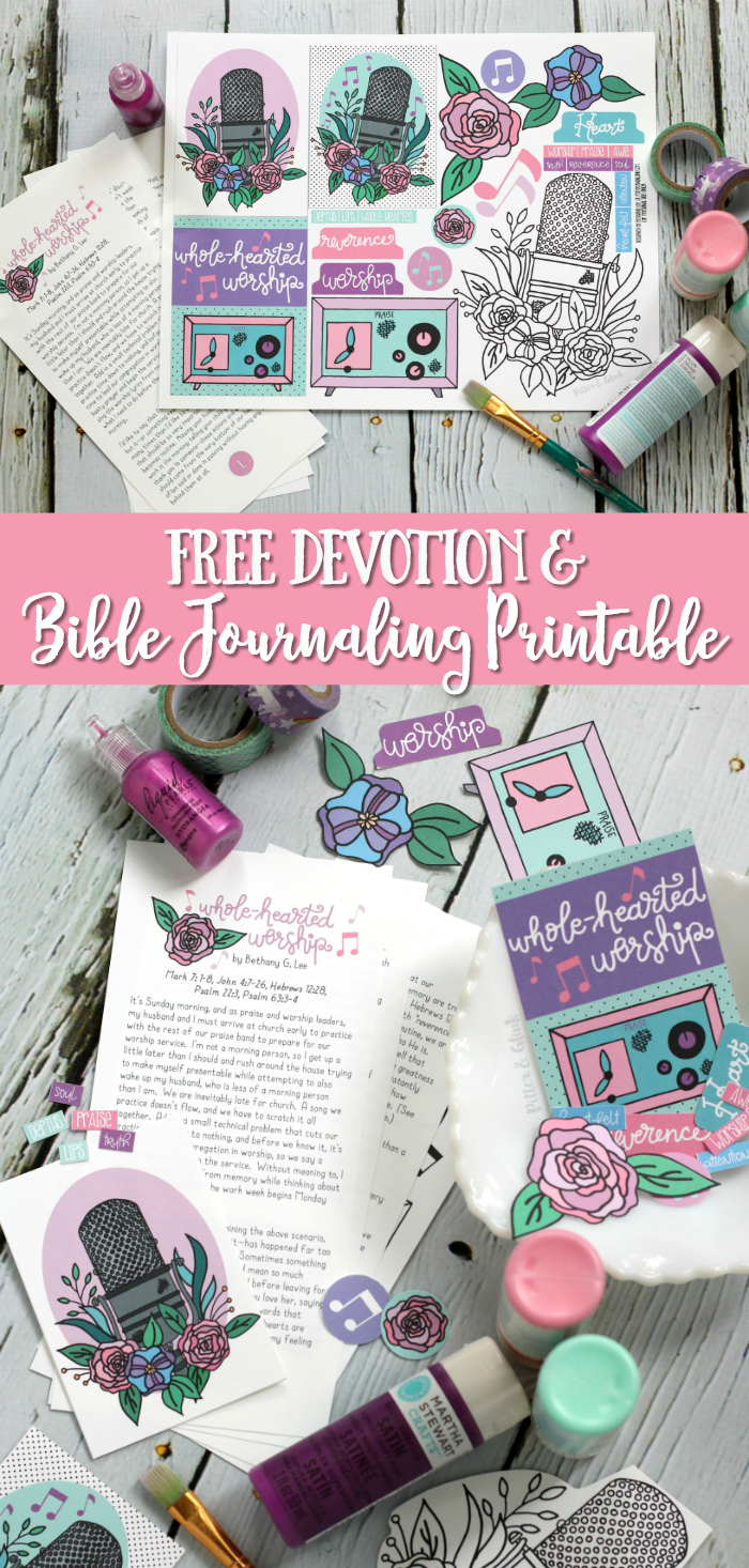 Free Worship Devotion + Bible Journaling Printable