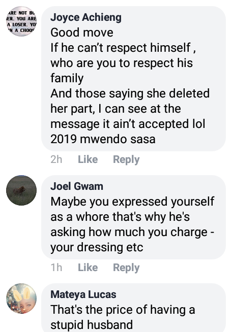 """Photos: Lady exposes married man who sent a message to her asking how much she charges for her """"nunu"""""""