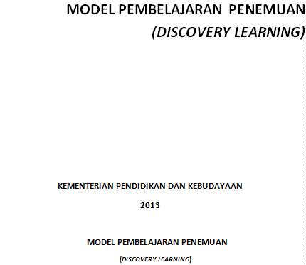 MODEL PEMBELAJARAN PENEMUAN (DISCOVERY LEARNING)