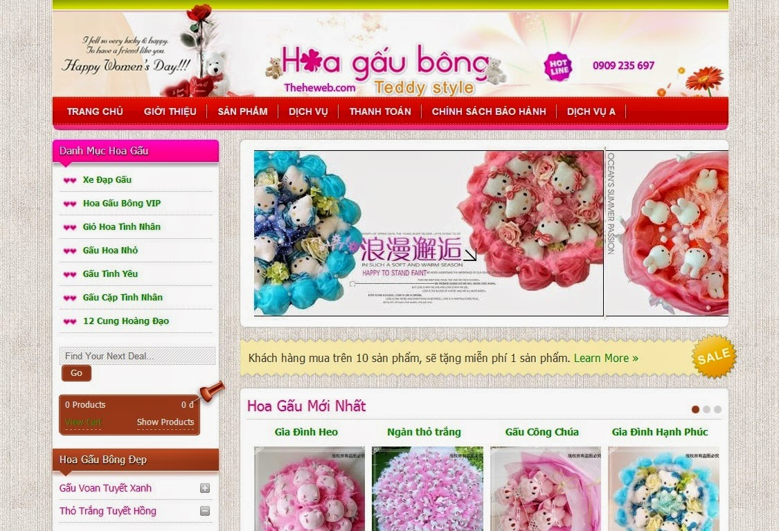 thiết kế website bán hàng gấu bông chuyên nghiệp