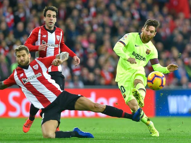 Athletic Bilbao frustrate Messi and his Barca teammates