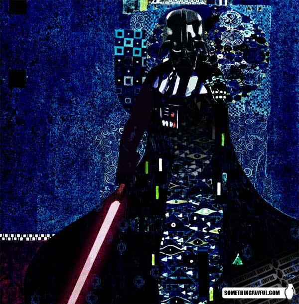 Darth Vader in the style of Gustav Klimt