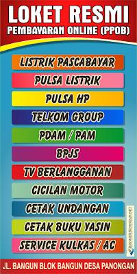 Contoh Banner Spanduk Loket Pembayaran Resmi PPOB Cdr