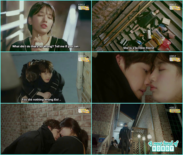 joon young piggy back to eul and nearly kiss her - Uncontrollably Fond - Episode 14 Review