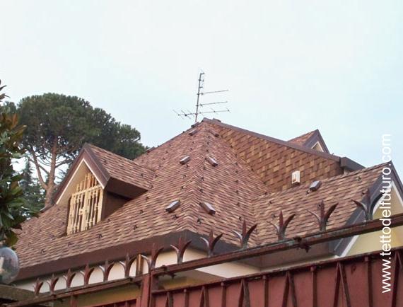 Esempio di tetto in tegola canadese