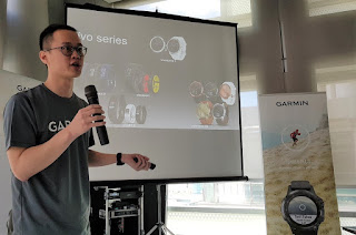 Chuang positions the new smartwatch within the extended  Garmin vivo family.