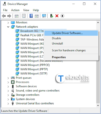 Update Drivers Software Network adapter