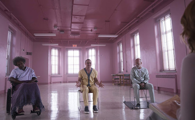 James McAvoy, Bruce Willis, Samuel L. Jackson on Glass 2019