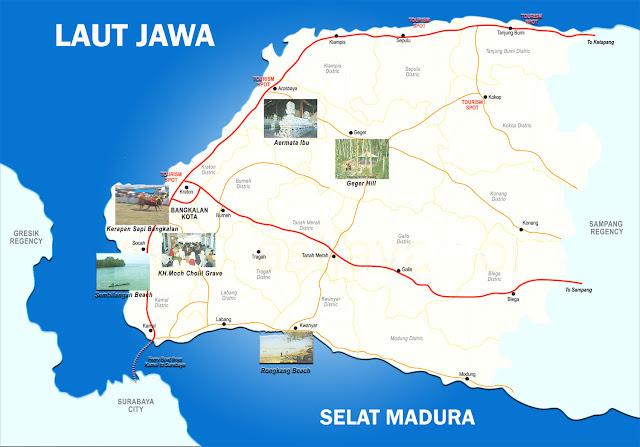 Peta Bangkalan Lengkap 18 Kecamatan